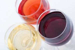 Drei Sorten Wein