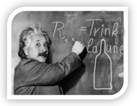 Einstein in Trinklaune