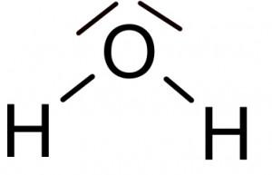 Valenzstrichformel - Wasser