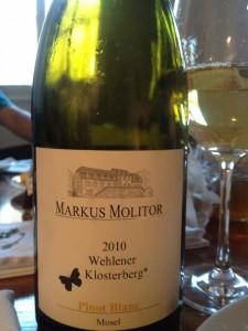 Markus Molitor - Wehlener Klosterberg Pinot Blanc* 2010