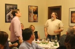 Wondrich und Brown bei der Hemingway-Verkostung