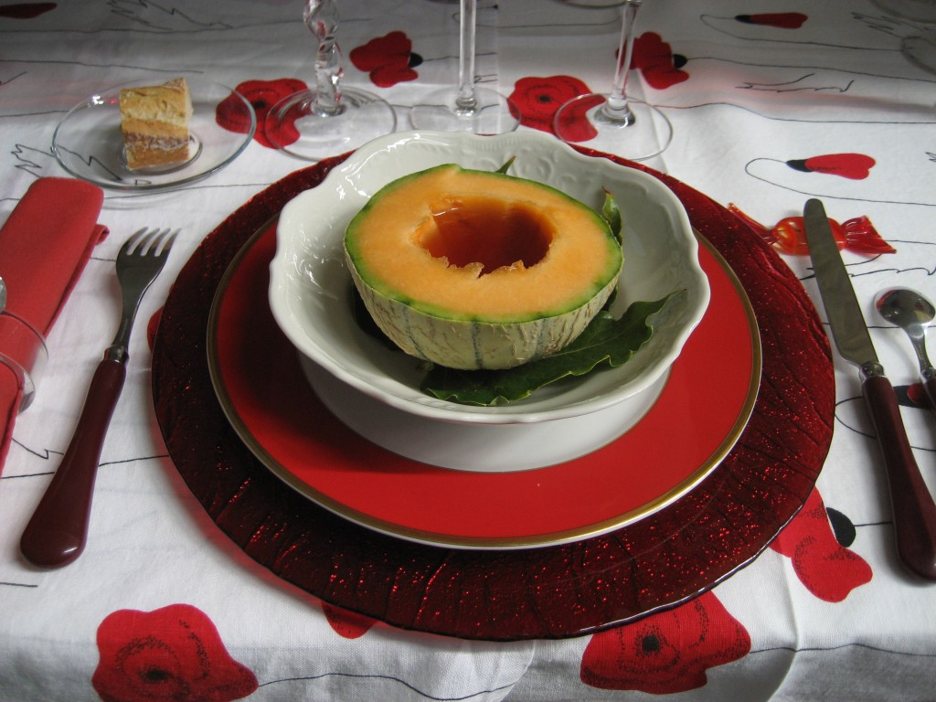 Melone mit Pineau Rouge