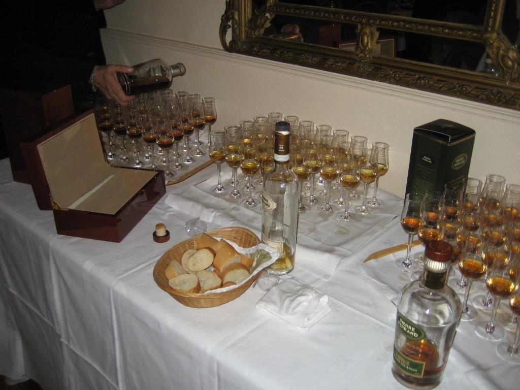 Abschließende Probe bei Cognac Ferrand