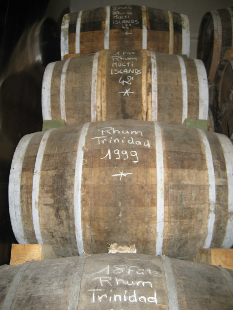Rumfässer in Cognac