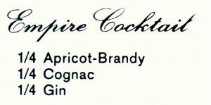 """Empire Cocktail - Das Rezept aus """"Den Freunden des Cocktails"""""""