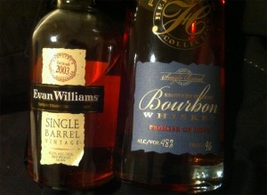 Evan WIlliams Single Barrel 2003 & Parker's Heritage Collection - Promise of Hope