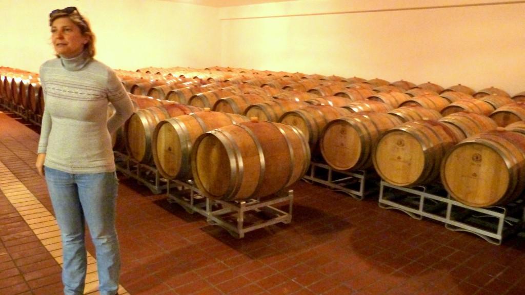 Viel Holz beim Weingut Lungarotti