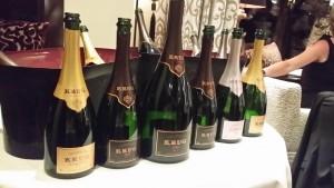 Die Champagner des Abends