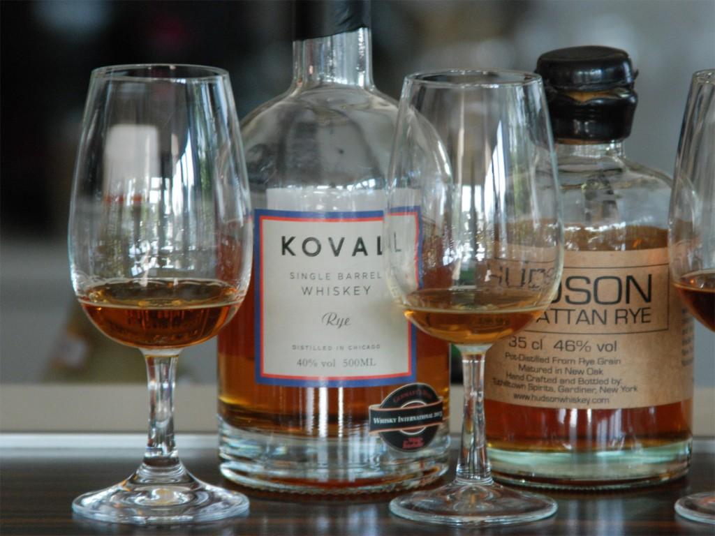 Koval Single Barrel Rye und Tuthilltown Hudson Manhattan Rye