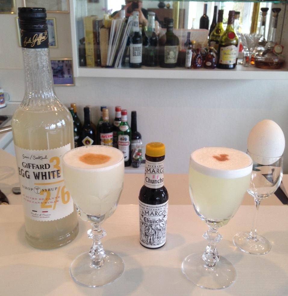 Pisco Sour: Giffard Egg White / Frisches Eiweiß