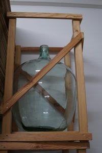 Glasballon zur Herstellung des Rum-Mazerats