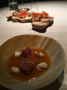 Spanferkel, Chorizo, Tintenfisch