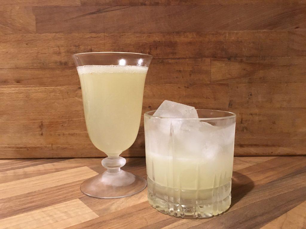 Yuzu Gin Sour und Yuzu Gin Fizz